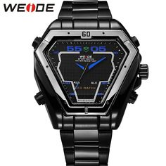 (48.59$)  Watch more here - http://ai8ih.worlditems.win/all/product.php?id=32611681474 - WEIDE New Fashion Casual Mens Watches Luxury Brand High Quality Quartz Watch Men Waterproof Wristwatch Relogios Masculino WH1102