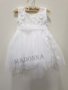 19K183 Madonna, Girls Dresses, Flower Girl Dresses, Wedding Dresses, Baby, Fashion, Baptisms, Dresses Of Girls, Bride Dresses
