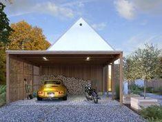 DOM.PL™ - Projekt domu DZW Odważny 2 CE - DOM DW1-90 - gotowy koszt budowy Dom, Gazebo, Farmhouse, Outdoor Structures, Samara, Outdoor Decor, Projects, Home Decor, Log Projects