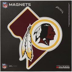 Washington Redskins x State Shape Car Magnet Car Magnets, Washington Redskins, Nfl, Shapes, Nfl Football