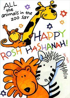 Rosh Hashanah Cartoon Greetings Rosh Hashanah Greetings, Happy Rosh Hashanah, In The Zoo, Tigger, Disney Characters, Fictional Characters, Greeting Cards, Snoopy, Cartoon