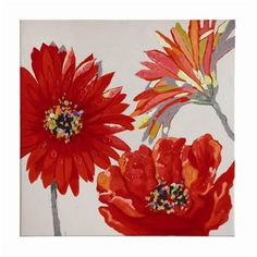 Coaster Fine Furniture 960711 Red Gerbera Whirling Wall Art