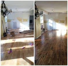 Kitchen Renovation: Patch, Repair, and Stain the Hardwood Floors