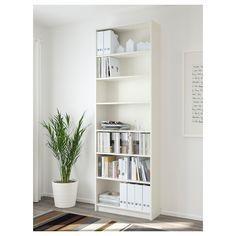 Official Website - IKEA - BILLY / OXBERG, Bookcase, birch veneer, This bookcase has a height extension unit, allowing you to make the most of the wall area. Adjustable shelves can be arranged according to your needs. Surface made from natural wood veneer. Ikea Billy Bookcase White, Ikea Bookcase, Billy Bookcases, Shallow Shelves, Narrow Shelves, Wall Shelves, Libreria Billy Ikea, Home Office Furniture, Bedroom Furniture