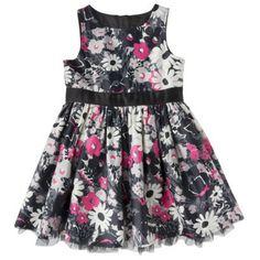 Genuine Kids from OshKosh ™ Infant Toddler Girls' Satin Floral Dress - Black