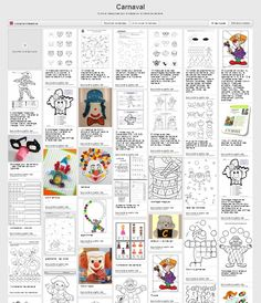 Theme Carnaval, Paper Toy, Le Clown, Petite Section, Teaching French, Mardi Gras, Montessori, Middle School, Bullet Journal