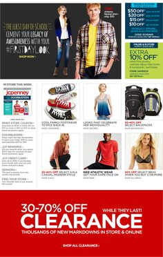 Back-to-school sales at JCP