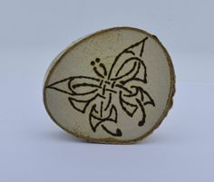 Wooden celtic coaster with a butterlfy. For by ArchdeansMagicShop