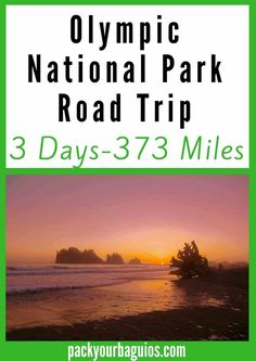 Want an epic 3-day road trip around the Olympic National Park in Washington State? If you want to see a variety for biomes and landforms, this road trip is for you! From rainforests to mountain ridges, this national park road trip has it all. In just three days, you can see and experience the highlights of this million-acre park.