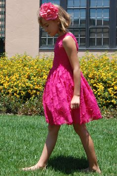 pretty tween girls dresses   Pretty in Pink Party Dress   Fiveloaves Twofish Clothing