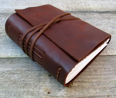 """Leather journal, Oscar Wilde quote / """"Be yourself. Everyone else is taken"""" / rustic brown leather journal by moon and hare by MoonAndHare on Etsy"""