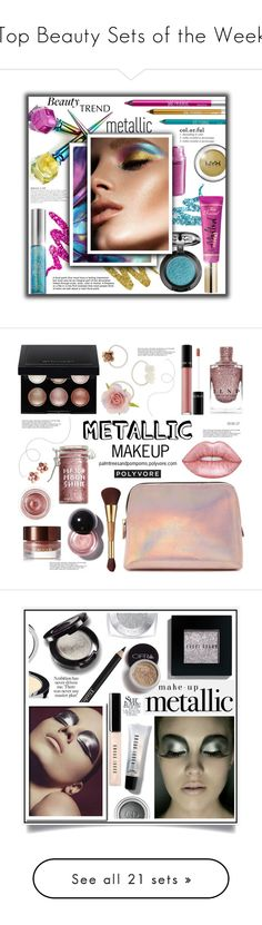"""Top Beauty Sets of the Week"" by polyvore ❤ liked on Polyvore featuring beauty, Urban Decay, KAROLINA, MAC Cosmetics, NYX, Too Faced Cosmetics, BeautyTrend, Beauty, metallic and metallicmakeup"