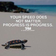 Forward progress is a victory!