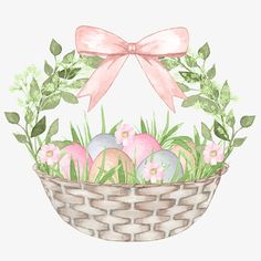 Bow and bird Easter Illustration, Watercolor Illustration, Easter Nail Art, Easter Crafts, Spring Art, Spring Crafts, Easter Paintings, Bunny Images, Easter 2020