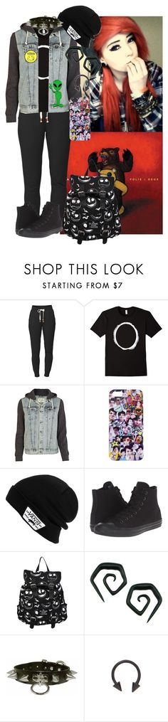 """""""Dan & Phil"""" by chemicalfallout249 ❤ liked on Polyvore featuring Lija, River Island, Vans, Converse and Retrò"""
