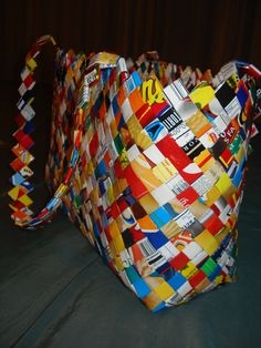 Saving all the chip bags I can find to make this one. In all reality, it may end up being as big as a change purse. ha!