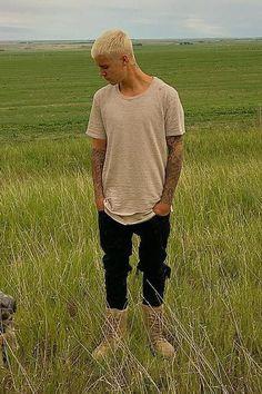 Justin Bieber wearing Yeezy Season 2 Crepe Boot in Taupe