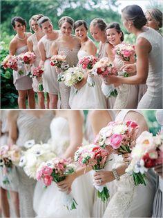 bridesmaids in soft mauve dresses