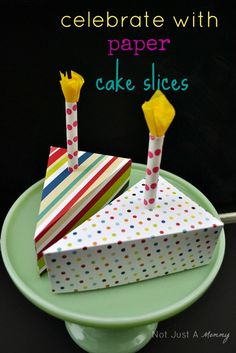 How about a few paper cake slices at your next party?
