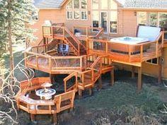 Image result for raised platform multi-level deck