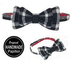 PAPILLON-uomo-NERO-cravatta-Farfalle-scacchi-bow-tie-HANDMADE-nuovo-ARTIGIANALE