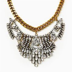 Vintage Bib Necklace, Statement Necklace by Shamelessly Sparkly $19.90