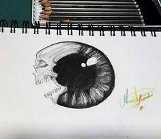 Skull eye drawing #skull #drawing #skulleye #skulleyedrawing