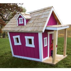 The Ramshackle Playhouse. This is the children's playhouse that evokes the rickety, off-kilter construction of fantastical, cartoonish structures, yet is constructed with sound engineering principles for stable, safe play.