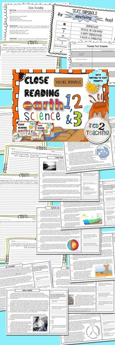 This BUNDLED pack includes 11 close reading informational passages on a variety highly tested earth science topics. Each passage also has 4 text dependent questions that drive students back to the text to extrapolate the needed information. In addition, for every passage you will receive both an informational and a opinion / argument prompt the students can write to. Each prompt drives students back to the text asking them to use information or defend /support their answer from the text.