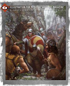 Ilustración para la revista histórica de Medieval Warfare