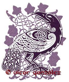 A Celtic raven - Victor Gonzalez