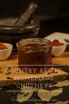 Chutney is a popular condiment that is simple to make but can really pack a punch when it comes to flavour! Why not give one of our easy homemade chutney recipes a try today? Drink Recipes, Appetizer Recipes, Country Recipe, Quail Recipes, Venison Stew, Ginger Chutney, Small Glass Jars, Recipe For Success, Creamy Mash