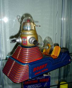 """Robby Space Patrol, a very rare """"sled"""" style space vehicle. Also, one of more accurate toys to capitalize on the film Forbidden Planet."""