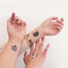 Pom Pom es un proyecto de ilustración de Liliana Zúñiga y Ekaterina Maksabedian llevados a otro plano: ¡tatuajes temporales!