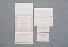 Ivory and Blush Pink Classic Pocketfold Wedding Invitation Suite  - Shayla and Mark on Etsy, $10.99 AUD