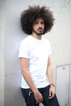 Afro 2 Afro 1 Products: be curly style prep, be curly curl enhancer, be curly curl enhancing hair sp Natural Hair Men, Curly Hair Men, Curly Hair Styles, Natural Hair Styles, Black Men Hairstyles, Natural Afro Hairstyles, Haircuts For Men, Black Power, Afro Style