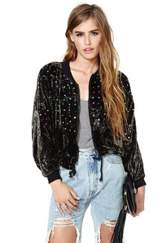 Nasty Gal Hypnotize Bomber Jacket. #fashion #style #bomberjackets