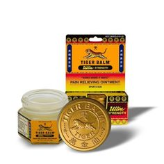 Tiger Balm Pain Relieving Ointment, Non-staining, Ultra Strength, 0.63 Ounces by Tiger Balm. $8.80. Tiger Balm White The classic Tiger Balm ointment which many of us grew up with. It is often used for headache remedies. Count on this family favorite to soothe a variety of ailments like stuffy nose, flatulence and itch due to insect bites. Gently rub over the affected area to allow its herbal formulation to soothe headaches, stuffy nose and other discomforts quickly and effectively.