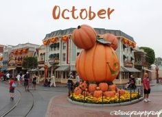 Disneyland October Calendar