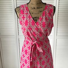 Wrap Dress Maxi wrap dress in Mediterranean print. Worn a handful of times and in excellent condition! Banana Republic Dresses Maxi