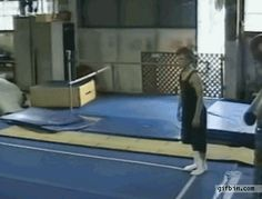 Gif Bin is your daily source for funny gifs, reaction gifs and funny animated pictures! Large collection of the best gifs. Funny Gymnastics Fails, Gymnastics Tricks, Funny Fails, Funny Memes, Hilarious, Really Funny, The Funny, Cheer Fails, Sports Fails