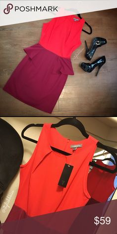 Tinley Road Color Blocked Peplum Dress Fun and flirty color blocked dress that will take you from the office to the evening! Brand new with tag. Size: XS Description: Dress Only Tinley Road Dresses Midi