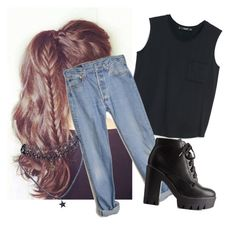 """""""You're a star..."""" by a-highschool-student ❤ liked on Polyvore featuring MANGO, Levi's, Charlotte Russe and Wet Seal"""