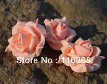 50pcs/lot 6cm Foam Rose Flower Heads PE Wedding Dcorations Flower 10 Colors Available Free Shipping(China (Mainland))