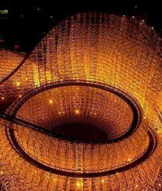 Roller coaster at night.                                       (aka scary spiral)