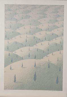 Kristian Krokfors: Kaukana, 2008, litografia, 58x40 cm, edition 45/100, Mannerheim-grafiikkakansio  - Bukowskis Market 1/2015