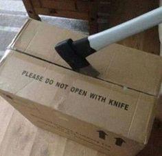 Pelo menos não é uma faca