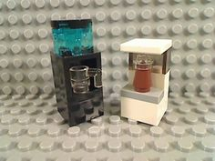 LEGO-Black-WATER-DISPENSER-White-COFFEE-MAKER-Cup-Office-Building-House-City