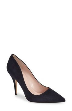 kate spade new york 'licorice too' pump navy suede $298 7.5 | Nordstrom