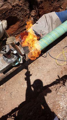 Welding on gas line